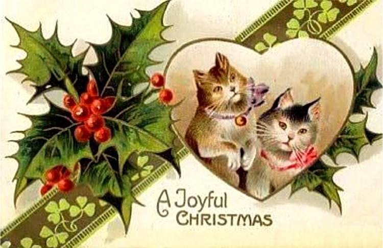 15 amazing christmas cards with cats kitty bloger advertisements m4hsunfo
